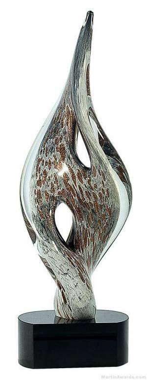 Mottled Wren Art Glass Award
