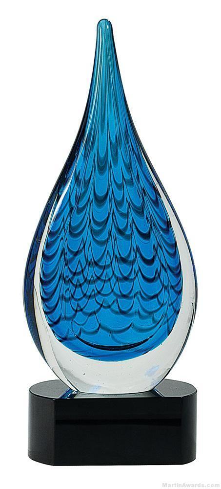 Rain Drop Art Glass Award