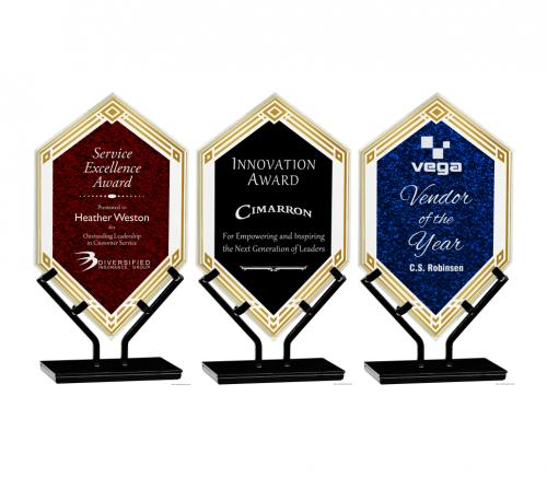 Infinity Double Diamond Acrylic Award