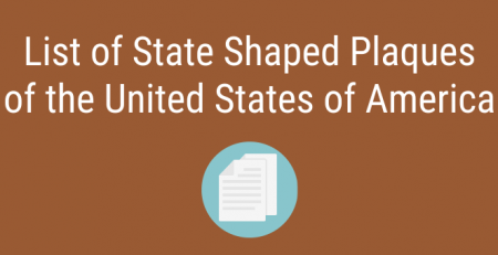 All 50 States in State Shaped Plaques of USA