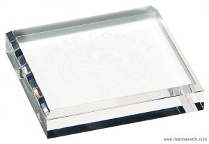 Clear Acrylic Rectangle Paperweight