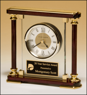 Contemporary Rosewood Piano Finish Clock