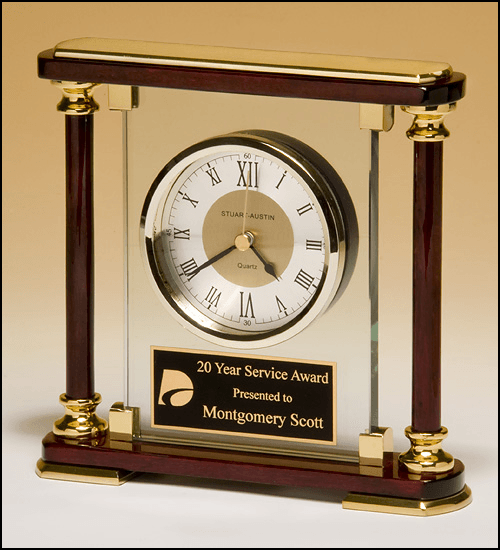 Contemporary Rosewood Piano Finish Clock