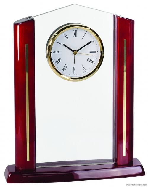 Rectangle Cathedral Acrylic with Clock