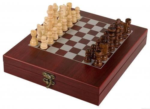 Personalized Rosewood Finish Chess Set