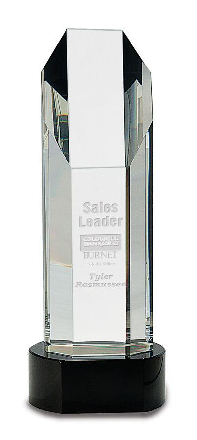 Genuine Prism Optical Obelisk Tower Crystal