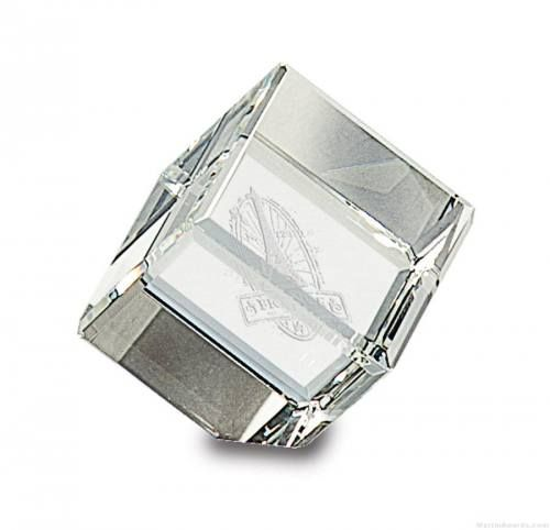 Crystal Award Cube
