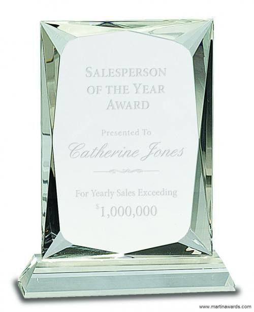 Crystal Rectangle Award Clear Base