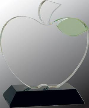 Crystal Apple on Black Base