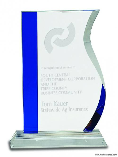 Blue Edge Crystal Wave Award