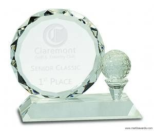 Crystal Golf Ball Award