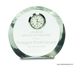 Crystal Round Clock Award
