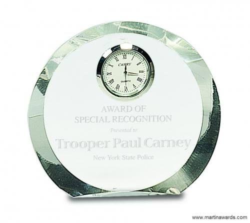 Crystal Round Clock Award