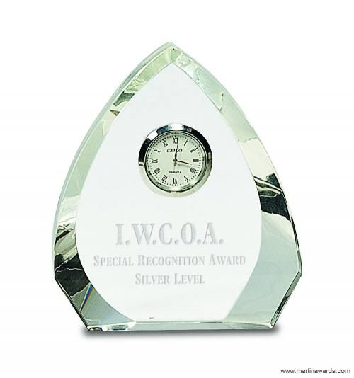 Crystal Arch Clock Award