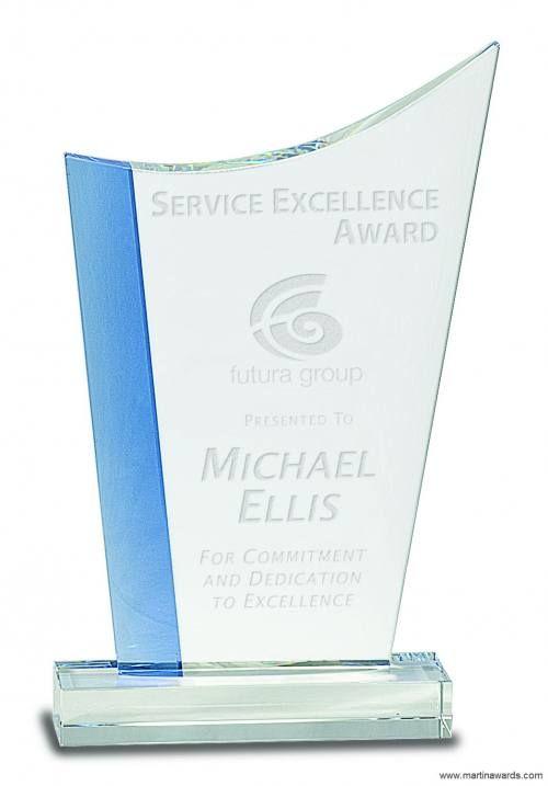 Blue Edge Crystal Crest Award