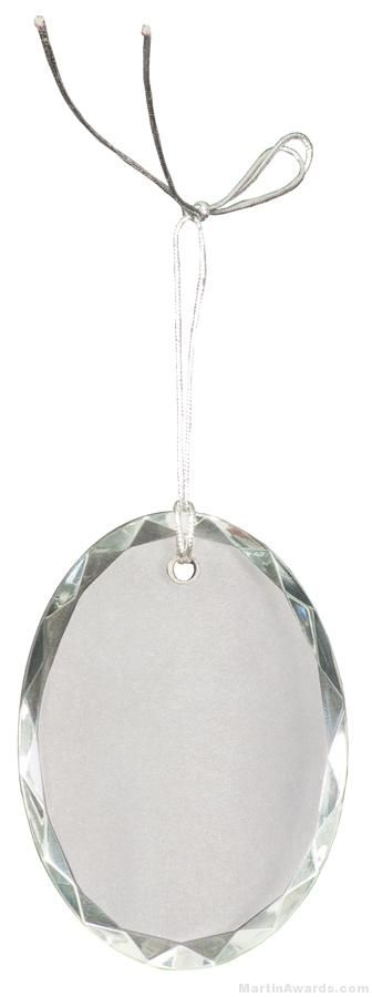 3 inch Crystal Oval Facet Ornament