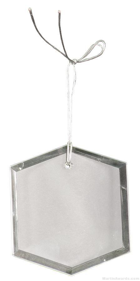 3 inch Crystal Hexagon Ornament