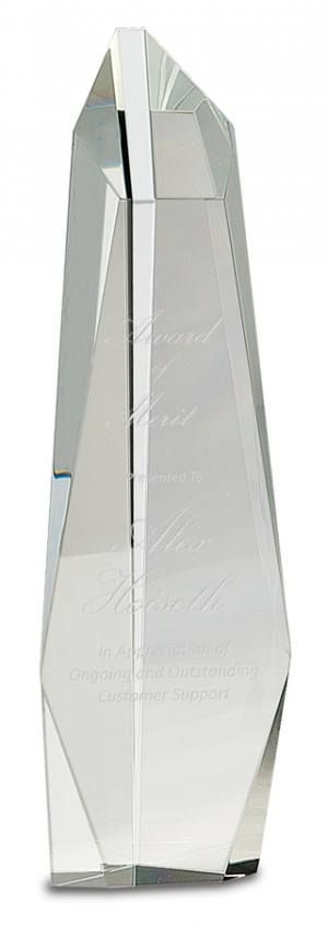 Crystal Clear Facet Tower