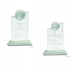 Clear Crystal with Inset Golf Ball Award