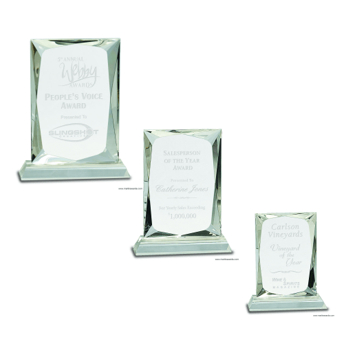 Crystal Rectangle Award Clear Baser Base