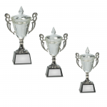 Crystal Trophy Cup on Black Base