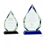 Diamond Crystal Award on Pedestal Base