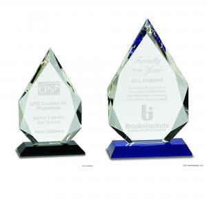Diamond Crystal Award on Pedestal Base