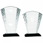 Fan shape Glass with Diamond cut edge New