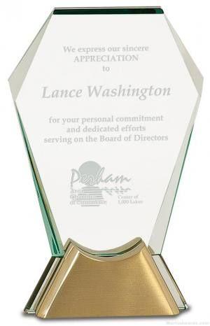 Gemstone Jewel Glass Award