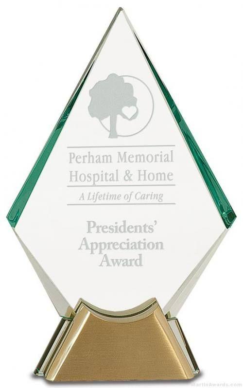 Diamond Jewel Glass Award