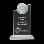 Clear Crystal with Inset Crystal Golf Ball