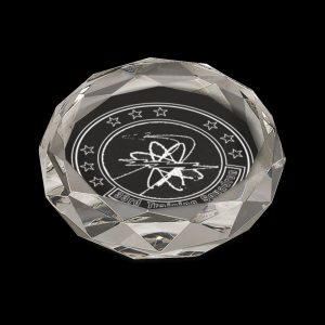 Clear Oval Crystal Paperweight