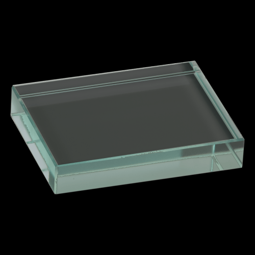 Jade Glass Rectangle Paperweight