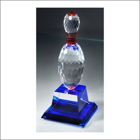 MA0527 - Crystal Bowling Trophy