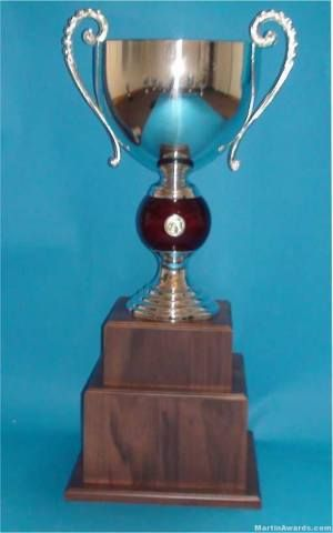 2 Tier Trophy cup with Base