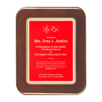 Red Elliptical Edge Plaque