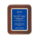 Blue Elliptical Edge Plaque
