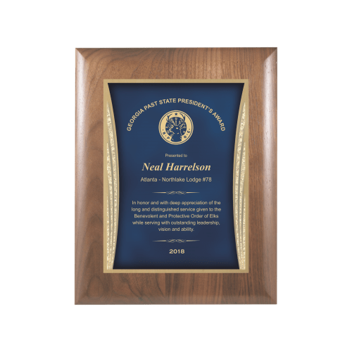 Blue Showtime Plaque Award