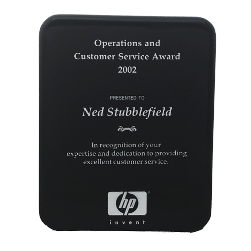 High Gloss Color-fill Plaque with Round Corners