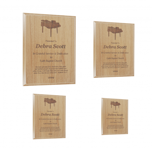 All American Red Alder Plaque