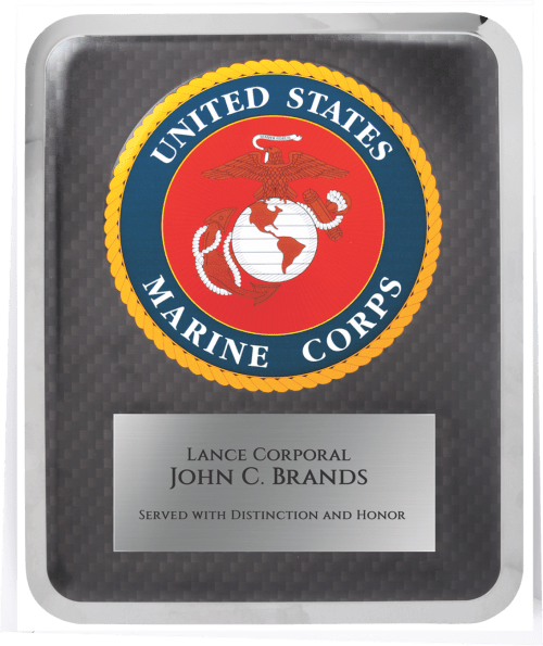 MA4507 - Marine Corps Hero Plaque