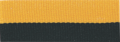 """7/8"""" Black/Gold Neck Ribbon with Snap Clip"""