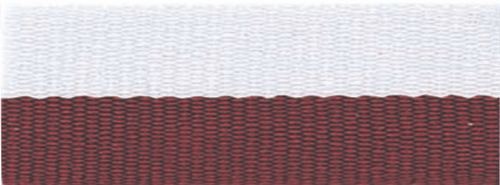 """7/8"""" Maroon/White Neck Ribbon with Snap Clip"""