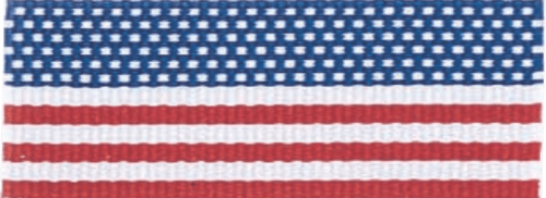 """1 1/2"""" Flag Neck Ribbon with Snap Clip"""