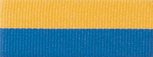 """1 1/2"""" Blue/Gold Neck Ribbon with Snap Clip"""