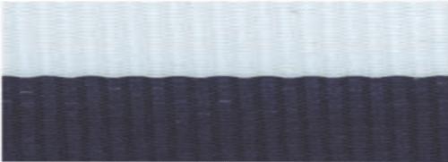 """1 1/2"""" Navy Blue/White Neck Ribbon with Snap Clip"""