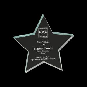 Jade Star Acrylic Paperweight