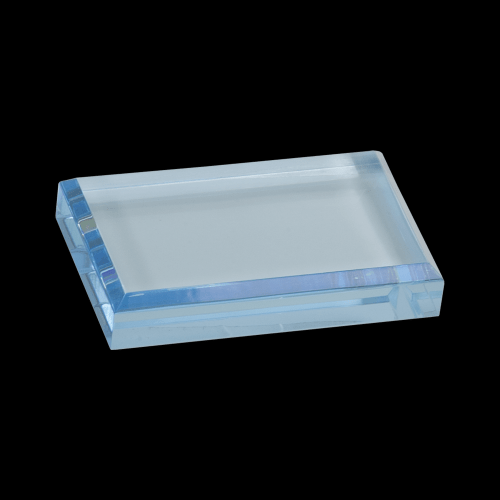 Blue Acrylic Paperweight