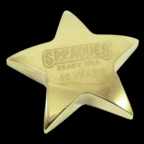 """4"""" x 4"""" Gold Metal Star Paperweight"""
