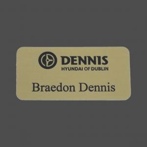 Gold Satin Metal Name Badge